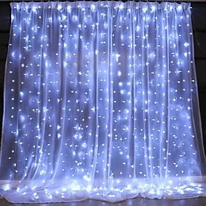 ieftine Lumini Nocturne LED-3mx2m usb led cortina sfoară lumini de control de la distanță lumini de zână de Anul Nou Crăciun de Ziua Îndrăgostiților în aer liber