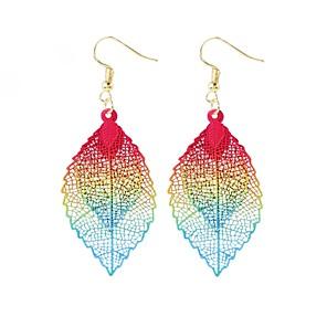 ieftine Cercei-Pentru femei Cercei Picătură Cercei Leaf Shape Simplu Clasic Modă cercei Bijuterii Auriu Pentru Cadou Bal Vacanță Plajă 1 Pair