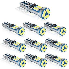 ieftine Lumini de Interior Mașină-10pcs t5 led w3w auto led lampă de bord auto instrument de bord 7 led smd 4014 led led led lampă indicator de avertizare