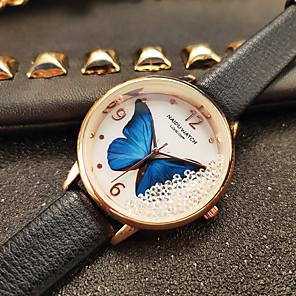 ieftine Cuarț ceasuri-Pentru femei Quartz Quartz Stl Modă Ceas Casual PU piele Negru Analog - Alb Negru Roz Îmbujorat Un an Durată de Viaţă Baterie