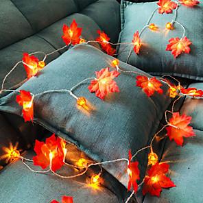 ieftine Fâșii Becurie LED-DRXENN 3M Fâșii de Iluminat 20 LED-uri 1 buc Alb Cald ziua Recunoștinței Crăciun Petrecere Decorativ Nuntă Baterii AA alimentate