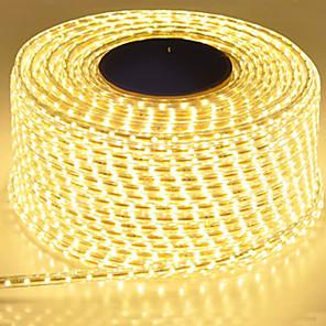 ieftine Benzi Lumină LED-bandă led impermeabilă IP65 bandă led cu LED 120leds / m lumini cu șnur smd5630 lampă de grădină cu lumină flexibilă cu două rânduri cu benzi led