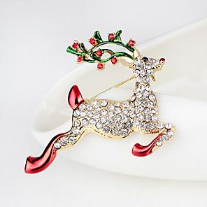 ieftine Broșe-Pentru femei Broșe #D Elk Modă Placat Auriu Broșă Bijuterii Curcubeu Pentru Crăciun Cadouri de Crăciun Cadou Party & Seară Anul Nou