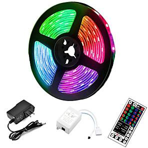 ieftine Benzi Lumină LED-5m led strip lights rgb tiktok lights 300 led 2835 smd rgb tape lights lumini autoadezive multicolore pentru cameră bucătărie tv festival iluminare cu telecomandă 12v