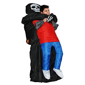 ieftine Halloween és farsangi jelmezek-Fantomă Costume Cosplay Costum Care se Umfla Costum haios Pentru copii Adulți Bărbați Cosplay Halloween Halloween Festival / Sărbătoare Material Textil Negru Bărbați Pentru femei Uşor Costume de