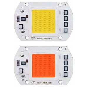ieftine LED-uri-cip chip cob led led 110v 220v 20w 30w 50w 50w alb alb cald cu spectru complet inteligent ic nu este nevoie de șofer de mărgele de lumină pentru lumina reflectoarelor de iluminat pentru lampa de