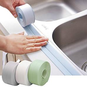 ieftine Gadget Baie-3.2mx38mm chiuveta de baie baie de duș bandă de etanșare bandă alb pvc autoadeziv autocolant de perete impermeabil pentru bucătărie baie