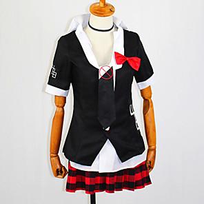 ieftine Cosplay Anime-Inspirat de Dangan Ronpa Junko Enoshima Anime Costume Cosplay Japoneză Costume Cosplay Geacă Bluză Fustă Pentru Pentru femei / Guler