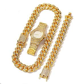 hesapli Lüks Saatler-Erkek Paslanmaz Çelik Quartz Modern Stil Şık Lüks Kronograf Paslanmaz Çelik Gümüş / Altın Rengi / Gül Altın Analog - Doğal Pembe Altın Gümüş