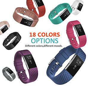 Недорогие Ремешки для спортивных часов-18 цветов силиконовые сменные полосы для fitbit charge 2-полосный браслет аксессуары браслет браслет ремешок для fitbit charge2 band