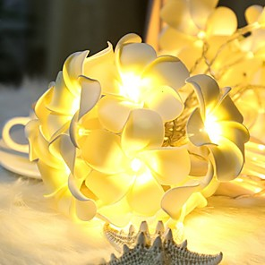 ieftine Lumini Nocturne LED-3m 20 lumini cu șnur lumină frangipani lumină pentru decorațiune casă zână ghirlandă Crăciun în aer liber nuntă petrecere decortivă lampă