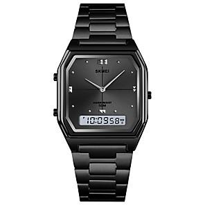 Недорогие Цифровые часы-SKMEI электронные часы Цифровой На каждый день Календарь Титановый сплав Черный / Серебристый металл / Золотистый Цифровой - Розовое Золото Черный Золотой / Нержавеющая сталь