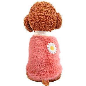 ieftine Imbracaminte & Accesorii Căței-Câini Haine Caracter Floare Casul / Zilnic Cute Stil Casul / Zilnic Iarnă Îmbrăcăminte Câini Cald Galben Roz Galben și Verde Costume Poliester XS S M L XL