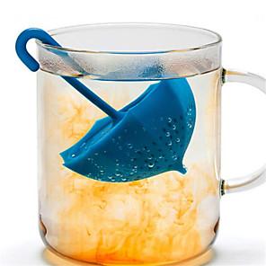 1 stk kreative mr søte paraplyform silikon te-infuser kaffesil filterinfuserer tepose tilfeldig farge