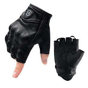 ieftine Mănuși de Motociclist-cs-1046a mănuși de călărie pentru motociclete din piele confortabilă și respirabilă jumătate deget fără mănuși din piele completă anti-cădere mănuși din piele de oaie pentru cursele de fond