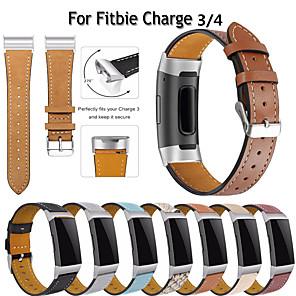 Недорогие Ремешки для спортивных часов-подходит для Fitbit Charge 3 4 спортивный ремешок для браслета charge4 кожаный ремешок