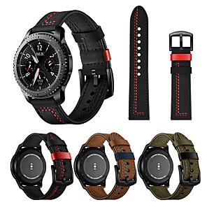 Недорогие Часы для Samsung-22 мм кожаный ремешок для часов для samsung galaxy watch 3 45 мм / часы galaxy 46 мм / gear s3 classic / gear s3 frontier сменный браслет ремешок на запястье браслет