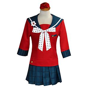 ieftine Cosplay Anime-Inspirat de Dangan Ronpa Harukawa Maki Anime Costume Cosplay Japoneză Costume Cosplay Vârf Fustă Șosete Pentru Pentru femei / Veșminte de cap / Papion