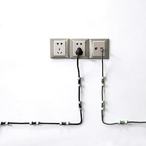 ieftine Cutii Depozitare Bucătărie-20 buc / lot clemă linie solidă clemă USB cabluri suport organizator fixare sârmă clemă clemă fixă clipuri de cablu