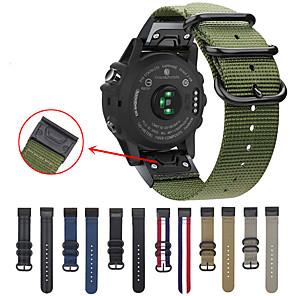 Недорогие Часы и ремешки Garmin-easy fit nato premium нейлоновый ремешок для garmin fenix 5 / fenix 5 plus ремешок для часов быстросъемный сменный браслет для garmin fenix 6/6 pro / fenix 5 / fenix 5 plus