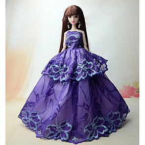 ieftine Haine Păpușă Barbie-Accesorii pentru papusi Haine de Păpușă Rochie de papusa Rochie de mireasă Petrecere / Seară Nuntă Rochie De Bal Dantelă Satin / Tul Tul Dantelă Satin Pentru păpușă de 11,5 inci Jucărie făcută manual