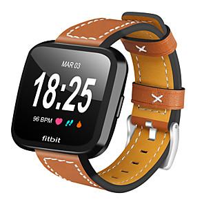 Недорогие Ремешки для спортивных часов-Ремешок для часов для Fitbit Versa Fitbit Кожаный ремешок Стеганная ПУ кожа Повязка на запястье