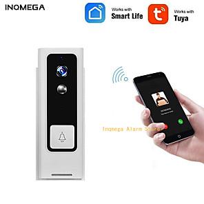 ieftine Camere IP-inqmega tuya viață inteligentă wireless wireless video video interfon 720p telefon apel ușă clopot securitate acasă cameră de viziune de noapte