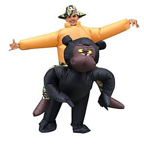 ieftine Halloween és farsangi jelmezek-Maimuţă Costume Cosplay Costum Care se Umfla Costum haios Adulți Bărbați Cosplay Halloween Halloween Festival / Sărbătoare Material Textil Negru Bărbați Pentru femei Uşor Costume de Carnaval
