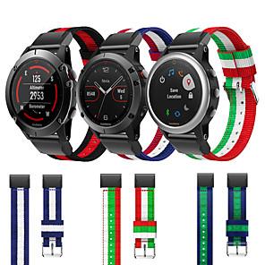 Недорогие Часы и ремешки Garmin-быстросъемный нейлоновый ремешок для часов для garmin fenix 6 pro / 6x pro / fenxi 5 plus / 5x plus / fenix 3 hr / forerunner 935 945 / подход s60 s50 / d2 bravo / mk1 браслет на запястье браслет