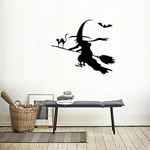 ieftine Acțibilde de Decorațiuni-petrecere de Halloween decor de Halloween fantomă de groază Halloween vrajitoare autocolante de perete autocolante decorative de perete, pvc decor acasă decalcomanie de perete decor de perete / detașa
