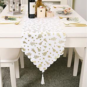ieftine Șervețele & Inele de Șervețele-alergător de masă bumbac Crăciun contemporan sărbătoare Husă de masă decorațiuni de masă pentru Crăciun dreptunghiular 180 * 36 cm alb 1 buc