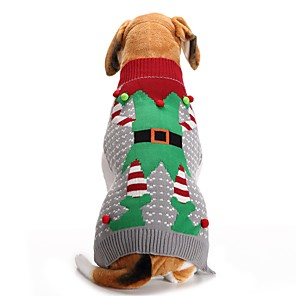 ieftine Imbracaminte & Accesorii Căței-Câini Pisici Pulovere Crăciun stil minimalist Iarnă Îmbrăcăminte Câini Gri Costume Poliester XXS XS S M L XL