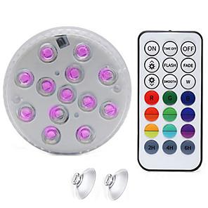 ieftine Proiectoare LED-1buc rgb submersibil lumina upgrade magnet ip68 13 leds subacvatic lampă de noapte vaza în aer liber castron iaz piscină decor lampă