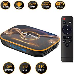 hesapli TV Kutuları-hk1 rbox r1 tv kutusu android 10 set üstü kutusu 4gb 32gb 64gb rk3318 android tv media player smart tv box android