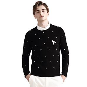 ieftine Bluze de Bărbați și Cardigane-Bărbați De Bază Buline Plover Manșon Lung Pulover Cardigans Stil Nautic Toamnă Iarnă Negru