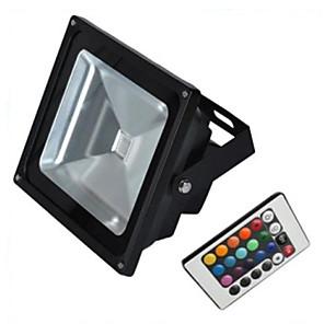 1pc 10 W 900 lm 1 LED perler Høyeffekts-LED Fjernstyrt RGB 85-265 V