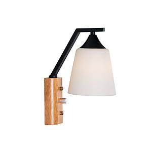 ieftine Abajure Perete-lumină de perete lemn mental mată țară moderne aplice living dormitor 110-120v 220-240v 12 w