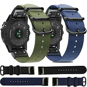 Недорогие Часы и ремешки Garmin-быстросъемный нейлоновый ремешок для часов для garmin fenix 6x pro / fenix 6 pro / fenix 5 plus / fenix 5x plus / fenix 3 hr / forerunner 935/945 / d2 / подход s60 сменный браслет ремешок на запястье
