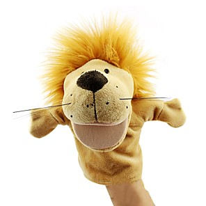 ieftine Păpuși-Păpuși de Degete Păpuși Păpușă Mână Păpuși de mână Leu Drăguț Novelty Încântător textil Pluș Joc imaginar, ciorapi, daruri de mare aniversare Fete Pentru copii