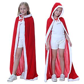 ieftine Costume Moș-Mos Craciun Rochii Bărbați Pentru copii Crăciun Crăciun Crăciun Catifea Manta / Pentru femei
