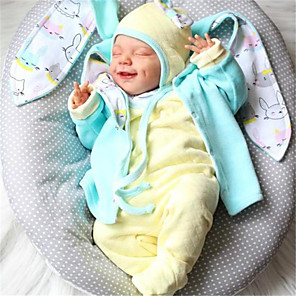 hesapli Barbie Bebek Kıyafetleri-20 inç Yeniden Doğmuş Bebekler Bebek ve Yürüme Evresi Oyuncakları Yeniden doğmuş bebek bebek Nisan Yeni doğan canlı El Yapımı Simülasyon Disket kafa Kumaş Silikon Vinil Giysi ve Aksesuarlarla Kız