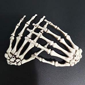 ieftine Mărgele & Mărgele De Ornat-2 buc de decorațiuni de Halloween decorațiuni pentru mâini de schelet de Halloween