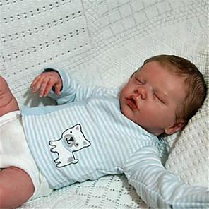 hesapli Barbie Bebek Kıyafetleri-17 inç Yeniden Doğmuş Bebekler Bebek ve Yürüme Evresi Oyuncakları Kız Bebeklerin Yeniden doğmuş bebek bebek İkizler A Yeni doğan canlı El Yapımı Simülasyon Disket kafa Kumaş Silikon Vinil Giysi ve