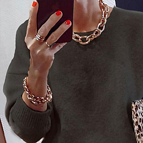 ieftine Seturi de Bijuterii-Pentru femei Seturi de bijuterii Două-Tonuri Inimă Prețios Pace Simplu De Bază Punk La modă Rock cercei Bijuterii Auriu Pentru Stradă Cadou Sport Oficial Bal 2pcs