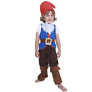 ieftine Halloween és farsangi jelmezek-Elf Costume Cosplay Costume petrecere Pentru copii Băieți Cosplay Halloween Halloween Festival / Sărbătoare Poliester Albastru piscină Uşor Costume de Carnaval / Vârf / Pantaloni / Centură / Pălărie