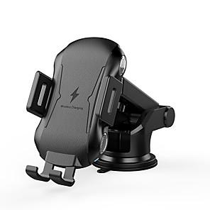 Недорогие Автомобильные зарядные устройства-беспроводное автомобильное зарядное устройство 10 Вт 7,5 Вт 5 Вт турбо быстрое автомобильное беспроводное зарядное устройство с автоматическим зажимом беспроводное автомобильное зарядное устройство
