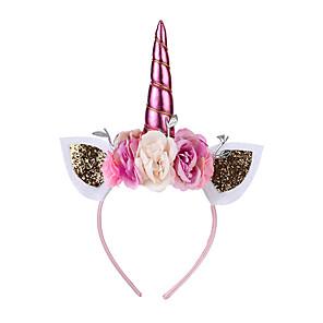 ieftine Costume film & teme TV-Unicorn Bijuterii de Vacanță Fete Cosplay de Film Accesorii de păr Prințesă Auriu / Alb / Mov Veșminte de cap Crăciun Halloween Carnaval Plastice
