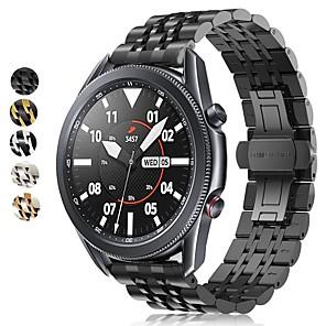 Недорогие Часы для Samsung-Ремешок для часов для Samsung Galaxy Watch 46 / Samsung Galaxy Watch 42 / Samsung Galaxy Watch Active Samsung Современная застежка / Бизнес группа Нержавеющая сталь Повязка на запястье