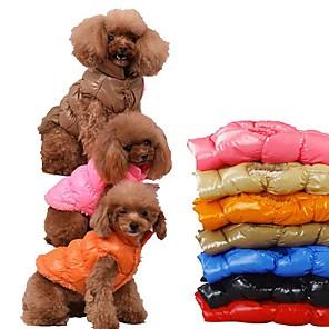 ieftine Imbracaminte & Accesorii Căței-Câine Haine Hanorace cu Glugă Mată Casul / Zilnic Keep Warm Iarnă Îmbrăcăminte Câini Respirabil Negru Rosu Roz Îmbujorat Costume Bumbac S M L XL XXL