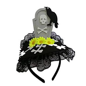 ieftine Bijuterii de Păr-Pentru femei Bijuterii de Păr Pentru Halloween Stradă Festival Dantelă Floare Oversize Material Textil Negru 1 buc